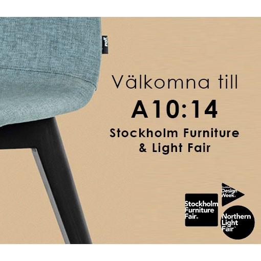 Välkommen att besöka oss under Stockholm Furniture & Light Fair